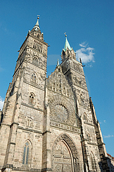 Evangelical Lutheran St.Lorenz Church In Nuremberg Royalty Free Stock Images - Image: 16394539