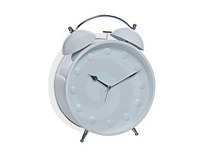 White Alarm Clock Stock Photography - Image: 16394732