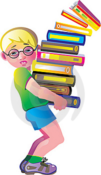 Boy With A Books Stock Photography - Image: 16395182