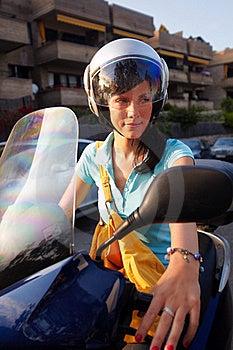 Woman On The Bike Stock Photo - Image: 16396320