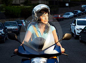 Woman On The Bike Stock Photos - Image: 16396373