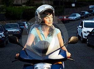 Woman On The Bike Stock Photos - Image: 16396373