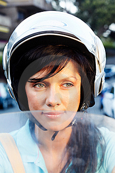 Woman On The Bike Stock Photo - Image: 16396390