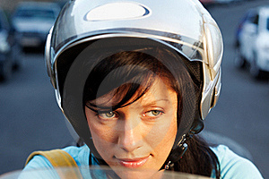 Woman On The Bike Stock Photography - Image: 16396402
