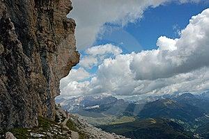 Trek In Italian Dolomites. Royalty Free Stock Photos - Image: 16396848