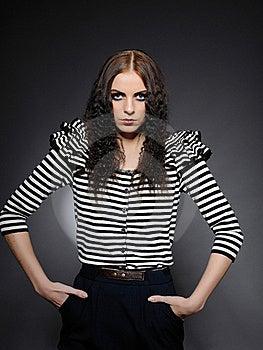 Beautiful Fashion Woman With Creative Make-up Stock Image - Image: 16398311
