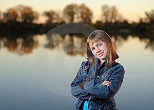 Girl With Crossed Arms Royalty Free Stock Photos - Image: 16400428