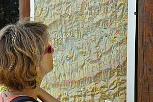Women Looking At Map Stock Image - Image: 16401511