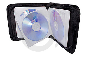 Black Disk-box With Disks Stock Photos - Image: 16407143