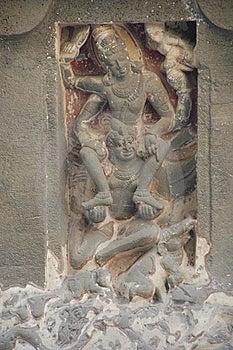 RELIGIOUS SCULPTURE stock photo. Image of indian, ellora - 16407852