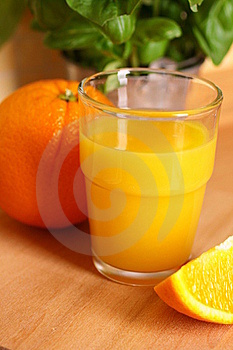 Glass With Orange Juice Stock Images - Image: 16409724