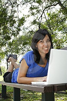 Woman With Laptop Stock Photos - Image: 16410253