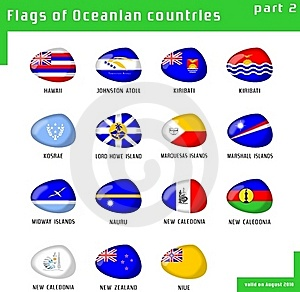 Flags Of Oceania Stock Images - Image: 16411674