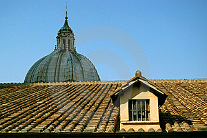 The Roof Of Saint Peter's Basilica Royalty Free Stock Photo - Image: 16412425
