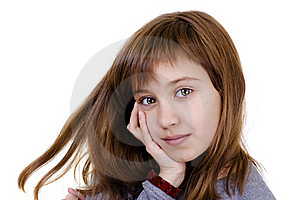 Portrait Of A Beautiful Little Girl Stock Photo - Image: 16413630