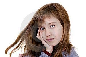 Portrait Of A Beautiful Little Girl Stock Photo - Image: 16413630