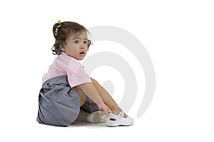 Surprised Looking Cute Girl Royalty Free Stock Images - Image: 16414569