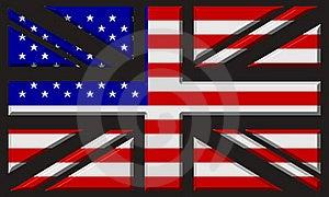 UK/USA Flag Stock Image - Image: 16415681