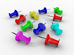 3D Push Pins Stock Images - Image: 16417994