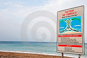 Dangerous Water   Warning Post Stock Photography - Image: 16418952