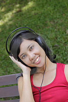 Woman Listening To Music Stock Photo - Image: 16419360