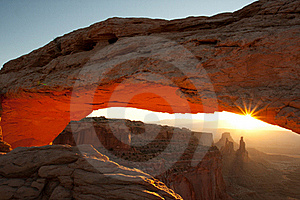 Arches By Sunrise Royalty Free Stock Image - Image: 16421206