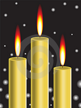 Gold Candle Royalty Free Stock Images - Image: 16422379