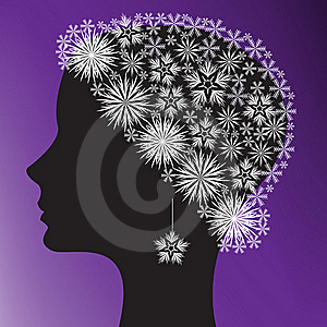Silhouette Of A Woman's Head Royalty Free Stock Images - Image: 16422439