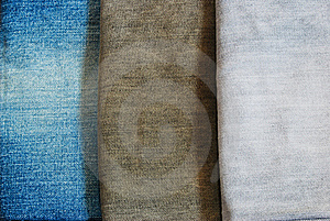 Three Color Jeans Pile Background Texture Royalty Free Stock Photo - Image: 16425435