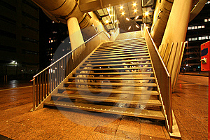 Golden Stairway Stock Photography - Image: 16426432