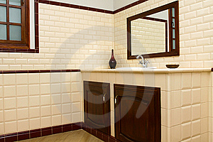 Interior Of Bathroom In Modern House Royalty Free Stock Photos - Image: 16426508