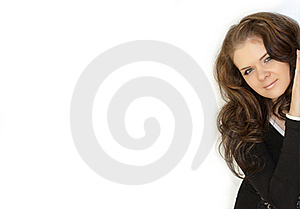 Isolated Woman In White Background Stock Photos - Image: 16426523