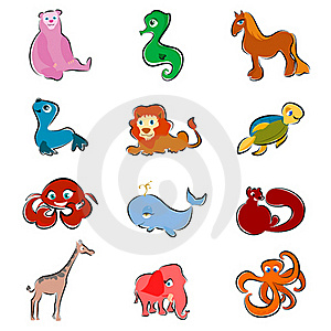 Cartoon Animals Royalty Free Stock Photography - Image: 16426937