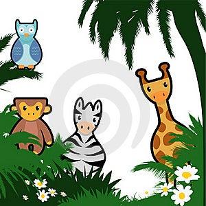 Cartoon Wildlife Royalty Free Stock Image - Image: 16426946