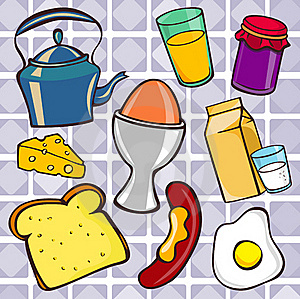 Breakfast Icons Royalty Free Stock Image - Image: 16427556