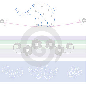Baby Arrival Card Royalty Free Stock Image - Image: 16427656
