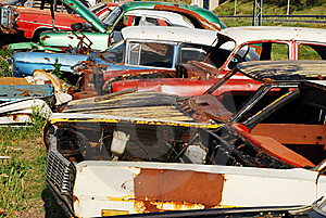 Old Abandoned Cars Royalty Free Stock Photo - Image: 16427995