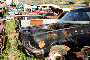 Old Abandoned Cars Royalty Free Stock Photos - Image: 16428198