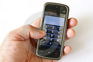 Touchscreen Phone Royalty Free Stock Images - Image: 16428739