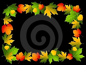 Autumnal Seamless Background With Leaves. Stock Photography - Image: 16429082