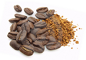 Coffee Grain And Soluble Royalty Free Stock Images - Image: 16429109