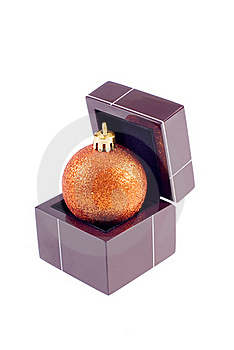 Christamas Sphere In The Box Stock Photos - Image: 16429133