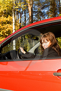 The Girl In The Red Car Stock Images - Image: 16429154