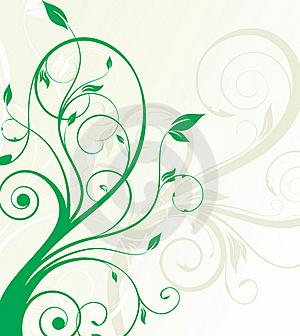 Green Floral Background Stock Image - Image: 16429571