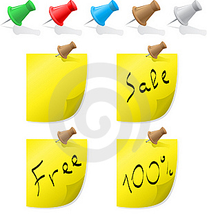 Pins And Paper Royalty Free Stock Photos - Image: 16429618