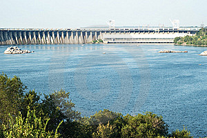 Zaporizhzhya Power Dam Royalty Free Stock Photo - Image: 16429895