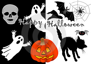 Halloween Set Icons. Vector. Stock Photography - Image: 16431622