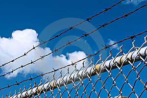 Barbed Wire And Fence Stock Photos - Image: 16431663