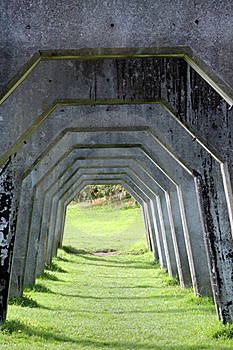 Concrete Arches Royalty Free Stock Images - Image: 16431849