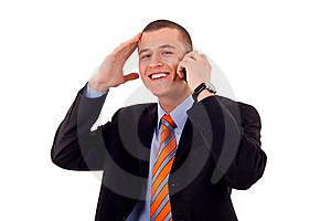 Man Talking On His Mobile Phone Stock Images - Image: 16433264